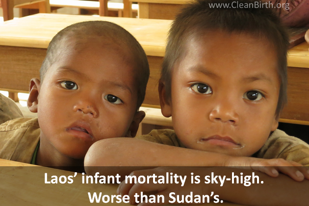Laos' infant mortality is sky-high. Worse than Sudan's.