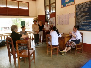 CleanBirth Founder Kristyn Zalota with midwives from Lao Ngam Hospital and Yale